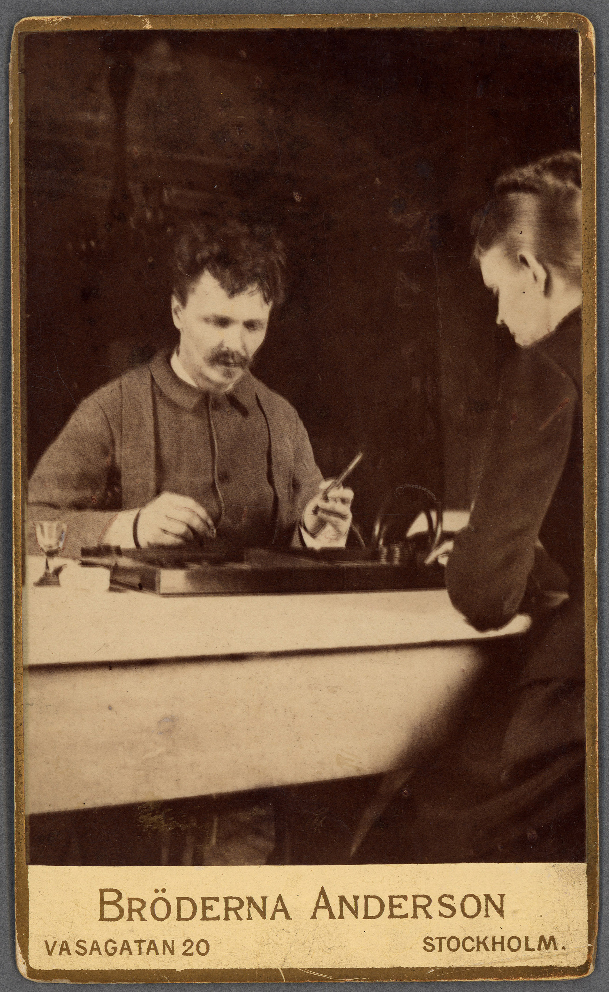 Strindberg and von Essen working on a new play in Stockholm
