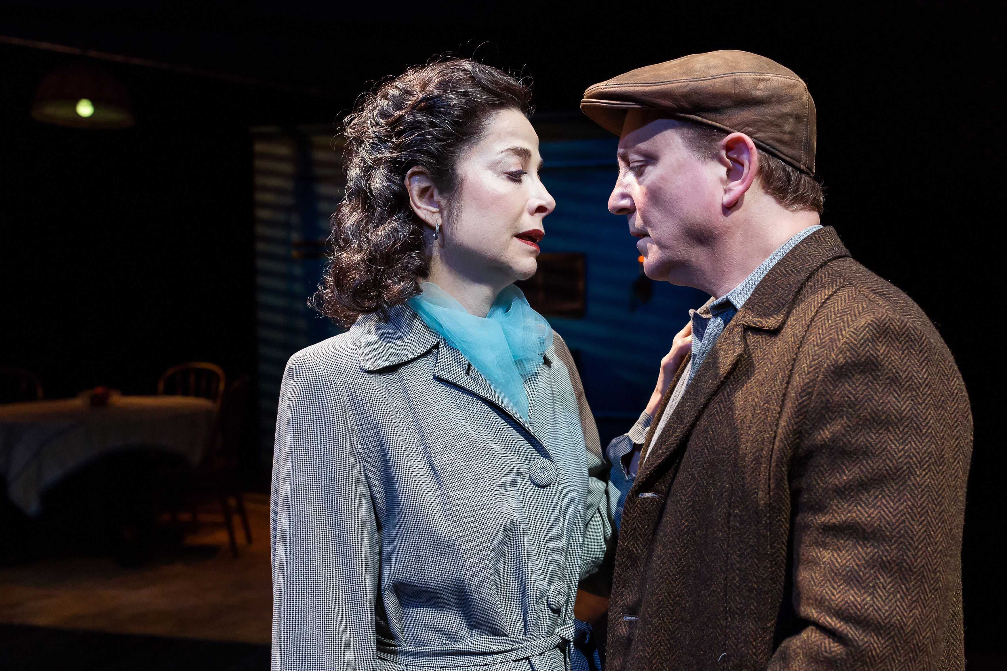 Josie De Guzman As Beatrice And Mark Zeisler Eddie In The Alley Theatres Production Of A View From Bridge By Arthur Miller