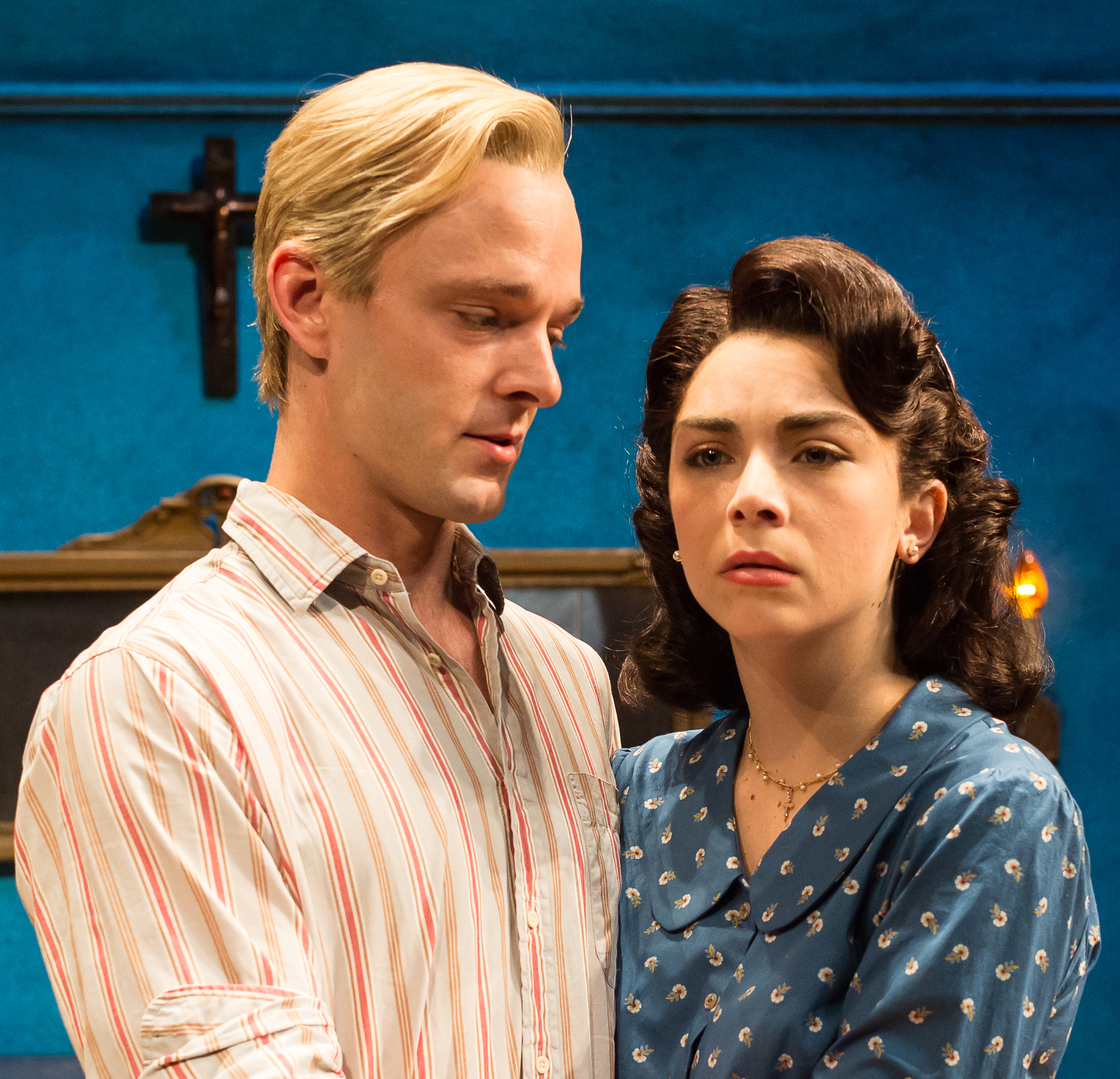 Jay Sullivan As Rodolpho And Cara Ronzetti Catherine In The Alley Theatres Production Of A View From Bridge By Arthur Miller